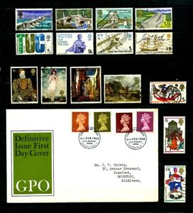 Great Britain stamps 1968 complete set used, 1968 Machins definitive cover