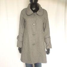 BB Dakota Womens Wool Peacoat Size L Large Gray Fashion Designer Coat