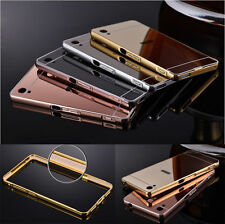 Bling Slim Housse Etui Coque Dur Pare-chocs Miroir Metal Protection Case Pr Sony