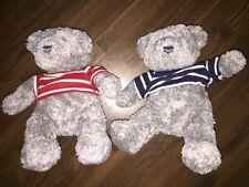 1 Stück- H&M Teddybär Bear Grau Shirt Blau Rot Kuscheltier Plüschtier Stofftier