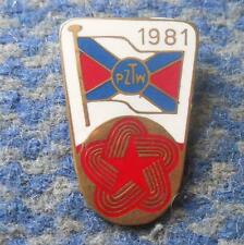 POLAND ROWING FEDERATION INTERNATIONAL REGATTA ROWING POLAND 1981 PIN BADGE