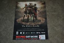 HTF The Elder Scrolls Online Gamestop 2014 Promo Dsiplay Poster VG COND
