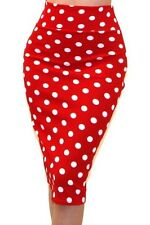 Women's Bodycon Skirt Hot Polka Dot Print Pencil Skirt