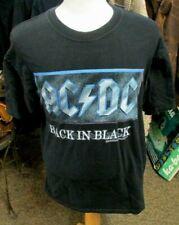 VINTAGE AC/DC BACK IN BLACK TRIBUTE BAND T SHIRT