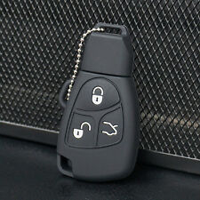 Black Silicone Key Fob Case Cover For Mercedes Benz B C E ML S CLK CL 3B 3BT
