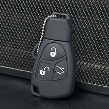 Black Silicone Key Fob Case Cover For Mercedes Benz B C E ML S CLK CL 3B 3BT