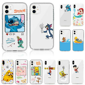 Airbag Shockproof Cute Cartoon Print Soft Case Cover For iPhone 11 XR 7 Plus