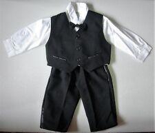 Baby Boy Suit Nero Occasione Formale Indossare Vestito Da Matrimonio Battesimo Clothing