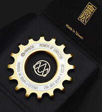 "14T TITANIUM Coated Track Cog  1/8"" by Ananta Fixed Gear Phil Dura Ace EAI"