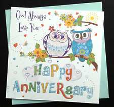 Funny But Romantic Handmade Wedding Anniversary Card Perfect for Husband / Wife