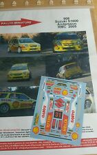 DECALS 1/32 REF 908 SUZUKI IGNIS S1600 ANDERSSON RALLYE MONTE CARLO 2005 RALLY