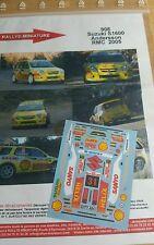 Decals 1/24 réf 908 Suzuki Swift s1600 Andersson Monte Carlo 2005