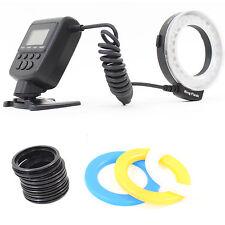 DynaSun 550 LED Annulaire Macro Ring Flash Lumière + 8x Bagues pour Reflex DSLR
