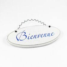 Heartwarmers Bienvenue Chic Wooden French Room Door Sign Plaque