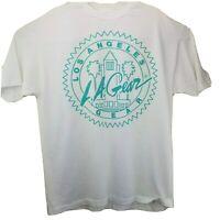 LA Gear T-Shirt Unisex Size XL White Top Teal Graphic Los Angeles Vintage