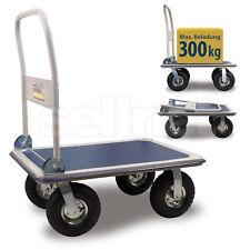 Plattformwagen 300 kg Luftbereift Transportwagen Handwagen Transportkarre SN300C