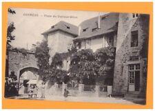 CORREZE (19) BUREAU DE TABAC / Place du Docteur BILLOT animée début 1900