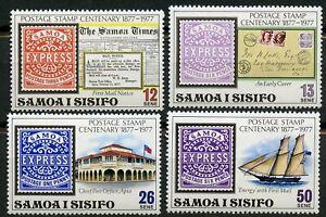 Samoa Scott 458-461 Samoan postage stamp centenary MNH 1977