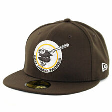 """New Era 59Fifty San Diego Padres """"Brown Gold Friar"""" Fitted Hat (Brown) Men's Cap"""