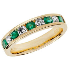 Unbranded Emerald Yellow Gold Diamond Fine Rings