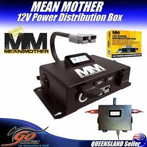 12V Power Distribution MMBD01 2 x USB Volt Meter Panel Mean Mother 4WD Campervan