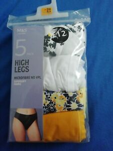 For New Pair Of High Leg Marks And Spencer's Knickers Size 24