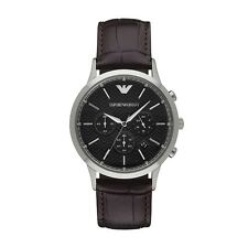 NEW EMPORIO ARMANI AR2482 MENS BROWN CHRONOGRAPH WATCH - 2 YEAR WARRANTY