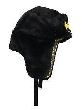 Batman Bat Signal DC Comics Adult Mens Winter Faux Fur Reversible Trapper Hat