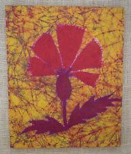 BATIK, Palm Fan Design (MADAGASCAR PALM FAN) - 1976, Mounted, 13 by 16 Inches