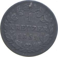 Better - 1851 Kingdom Of Bavaria 1 Kreuzer *193