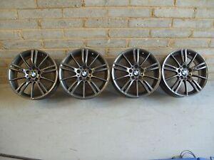 "Genuine BMW MV3 Staggered Alloy Wheels 18"" E46 E90 E91 E92 E93 : Ferric Grey"