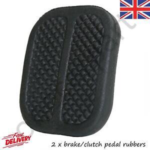 2 Brake/Clutch Rubber Pedal Pad Covers For Fiat 900 Ducato Fiorino Panda `77 on