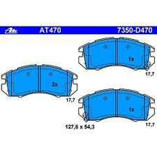 Disc Brake Pad-Pad Front ATE AT470