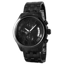 GUESS Men U17526G1 Black Stainless Steel Black Dial Roman Numeral Overlay Watch