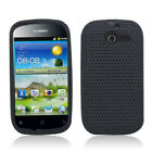For Huawei Ascend Y H866C MESH Hybrid Silicone Rubber Skin Case Cover Black