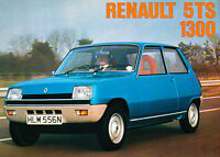 1975 Renault 5 5TS 1300 LeCar Original Car Sales Brochure Catalog Folder - UK