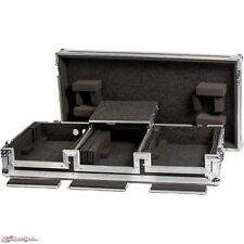 "DeeJay LED Universal DJ Coffin Case for 2 CD Players & 10"" Mixer + Laptop Shelf"