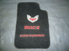 Trans Am Bird/ Camaro Iroc-Z OEM GM Black Floor Mat/ Good for Man Cave!