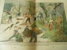 Les Habitant de Serrières en Chantagne tragique torrent de ka Prairie Print 1937