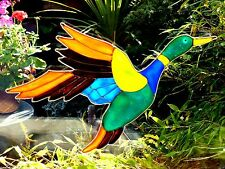 Grand FLYING DUCK fenêtre s'accroche Vitraux Suncatcher Conservatory Door 0041