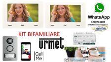 KIT VIDEOCITOFONO BIFAMILIARE URMET 1722/858 2 MONITOR 7 POLLICI CALL ME