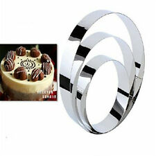 3x Stainless DIY Steel Round Circle Cookie Fondant Cake Gum Paste Mould Cutter