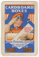 Playing Cards 1 Swap Card Old Vintage Advert UNIFORM GIRL Lady MAJORETTE Salute