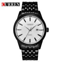 CURREN 8052 Men Fashion Stainless Steel Analog Date Business Quartz Wrist Watch