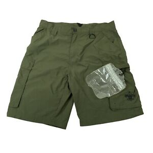 Boy Scouts Of America Womens Hiking Olive Green Cargo Shorts Size Medium