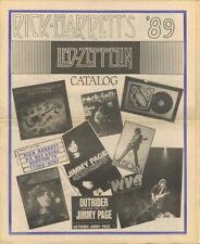Giant 1989 Led Zeppelin Collectibles Catalog from Rick Barrett, Zep Specialist!