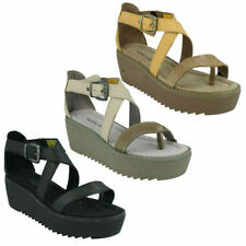 Women's Casual Leather Platforms Wedges Sandals & Flip Flops