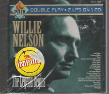 RARE WILLIE NELSON IMPORT CD PAIR THE LEGEND BEGINS 2 ON 1 USA STILL SEALED!!! 1