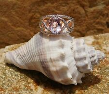 Rose De France Amethyst 18K Rose Gold over Brass Ring 2.35 cts. (size 8)