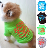 Summer Cute Pet Dog Clothes Letter Print Cotton T Shirt Vest Small Cat Puppy Tee